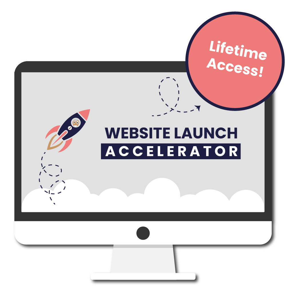 Website Launch Accelerator online course | learn how to launch your website faster and without the headaches | instructor Jennifer Franklin | websitelaunchPRO.com